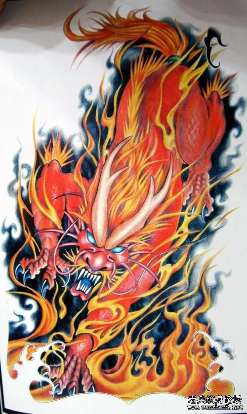 烈火麒麟纹身图案的寓意及讲究