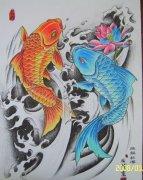 纹身图案大全 / 鲤鱼纹身图案大全