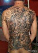 关公纹身图案大全:超酷超帅超赞的满背关公图片