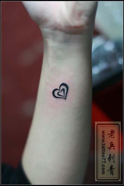 爱心图腾纹身