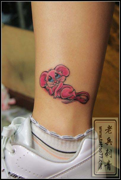 卡通老鼠纹身图片