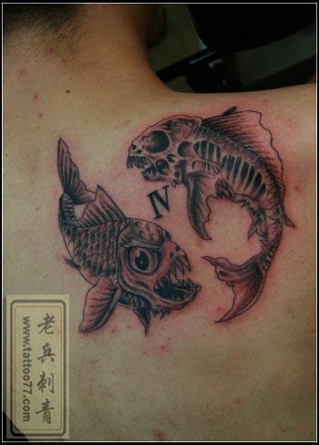 双鱼星座纹身