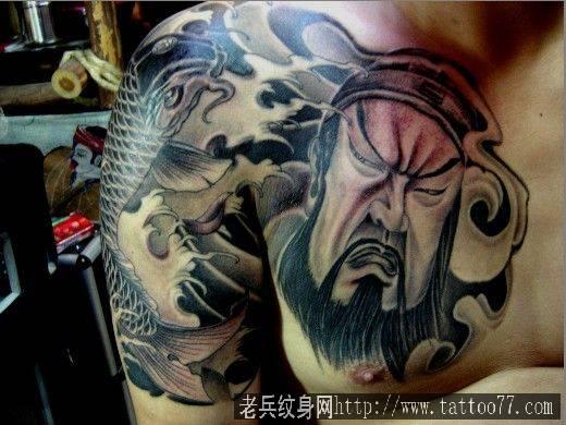关公纹身图案