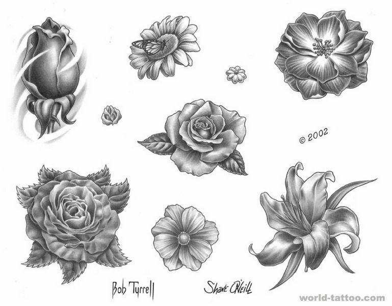 玫瑰花纹身图案