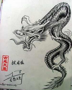 披肩龙纹身图案_老兵武汉纹身店:武汉专业文身店