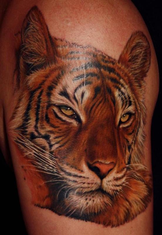 老虎纹身图案