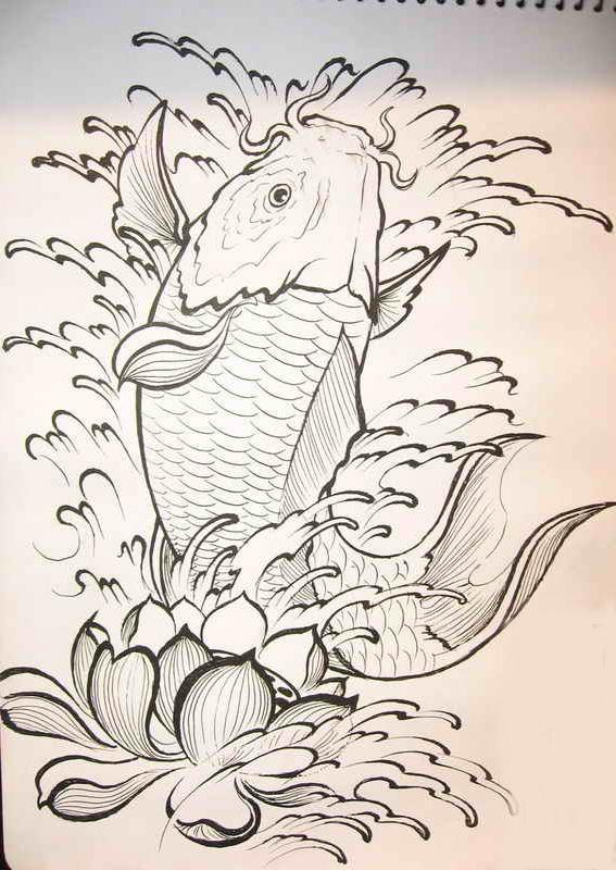 鲤鱼纹身图案_老兵武汉纹身店:武汉专业文身店