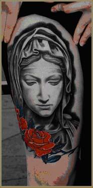 纹身培训の人像照片的做法