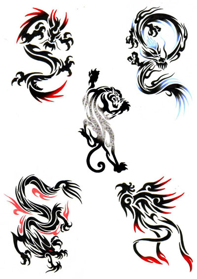 精致小图腾龙纹身图案图片推荐