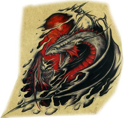 欧美龙纹身图案图片(tattoo)图片