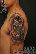 武汉纹身店:老兵纹身疤痕遮盖作品美人鱼纹身(tattoo)
