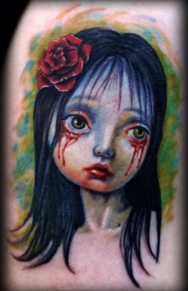 荆州死亡娃娃纹身图案(tattoo)
