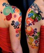 由孝感纹身店提供的彩色图腾纹身图案(tattoo)
