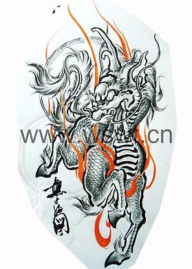 火麒麟神兽机械_火麒麟神兽纹身设计自动化与纹身设计图片