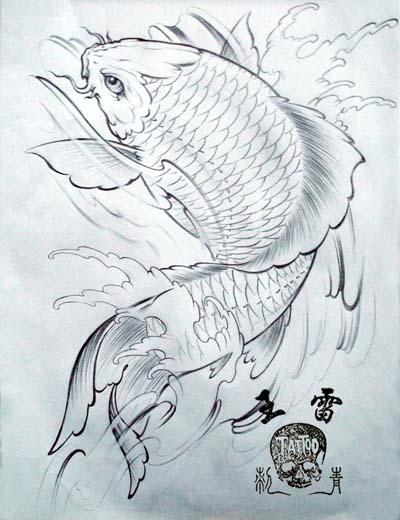 漂亮的鲤鱼纹身图片_武汉纹身网:武汉专业纹身