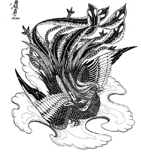 好看的凤凰纹身图案