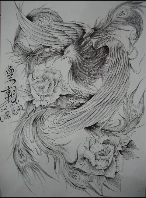 凤凰纹身图案1