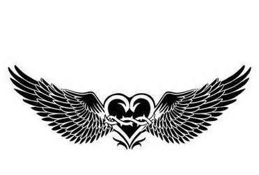翅膀图腾纹身女分享展示