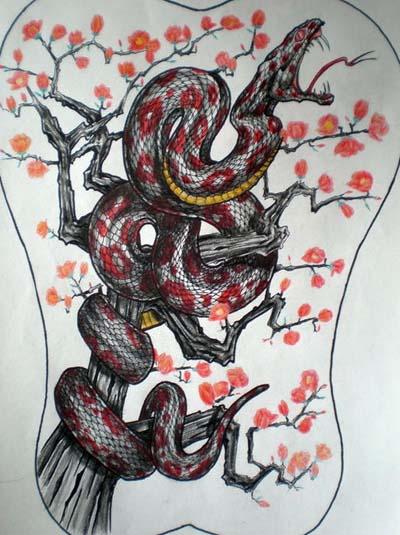 动物纹身图案大全:蛇纹身图片大全