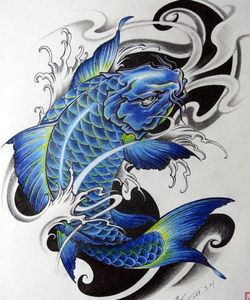 纹身鲤鱼图案手臂内容|纹身鲤鱼图案手臂版面设计