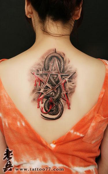纹身主页 纹身作品集 黑灰作品