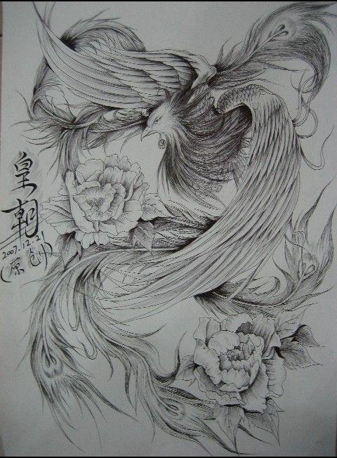 凤凰纹身图片