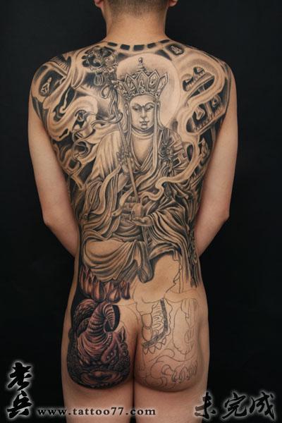 武汉纹身店:地藏王纹身高清图片