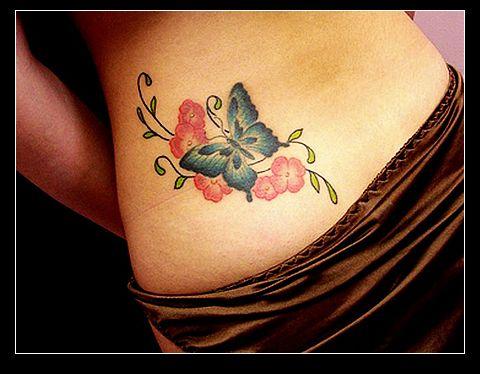 女人纹身图案大全—时尚蝴蝶纹身图案