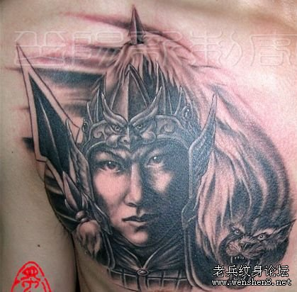 男人纹身图案大全之经典霸气帅气超酷超赞的三国人物
