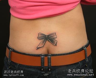 蝴蝶结纹身图案大全