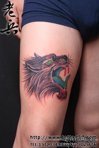 武汉最专业纹身店为你讲解滴血狼纹身图案图片的讲究