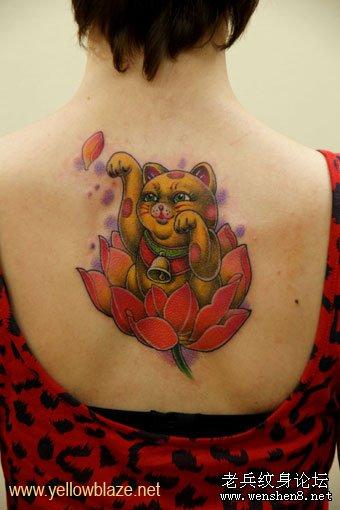 西安纹身图案 荷花纹身www.