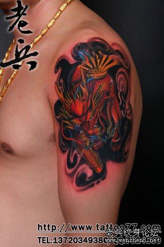 最好的纹身店为你讲解麒麟火麒麟纹身图案图片的讲究