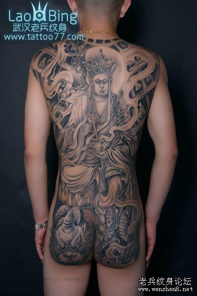 武汉纹身武汉最好的纹身武汉老兵纹身店为你讲解地藏