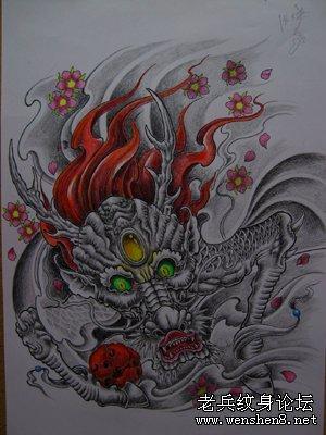 麒麟纹身图案纹身图片