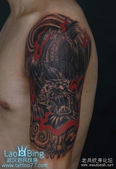 麒麟纹身图案大全