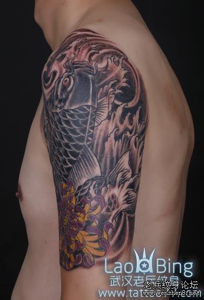 武汉最专业纹身店为你提供鲤鱼纹身的讲究和寓意