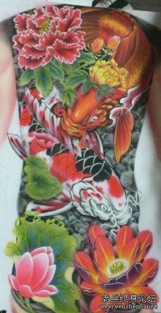 纹身图案牡丹花内容|纹身图案牡丹花图片