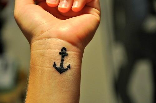 手臂图腾铁锚纹身图案纹身图片
