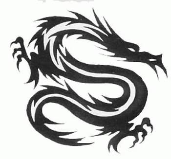 龙文身图案大全:图腾龙纹身图案图片