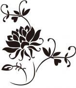 莲花文身图案:图腾莲花纹身图案图片
