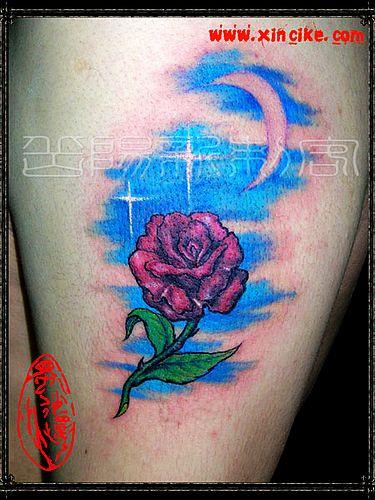 纹身图案大全 玫瑰纹身图案大全图片