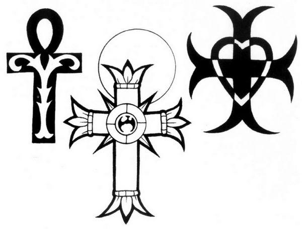 图腾十字架纹身图案图片
