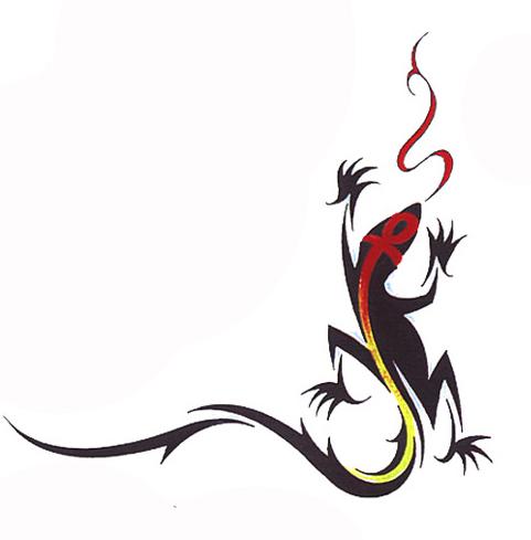 蜥蜴图腾纹身图案分享展示