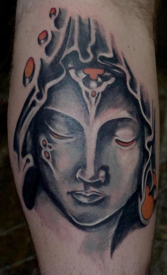 大臂内侧欧美美女肖像纹身(tattoo)图案图片图片