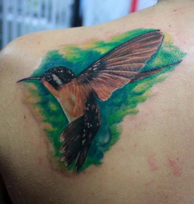 武汉最好纹身店 一款很漂亮的小鸟纹身 TATTOO 图片图片
