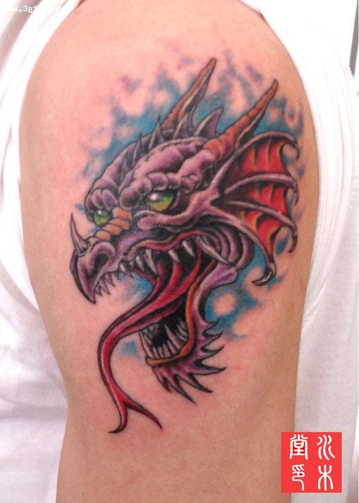 龙头纹身图案图片