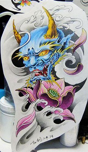 莲花纹身图案图片