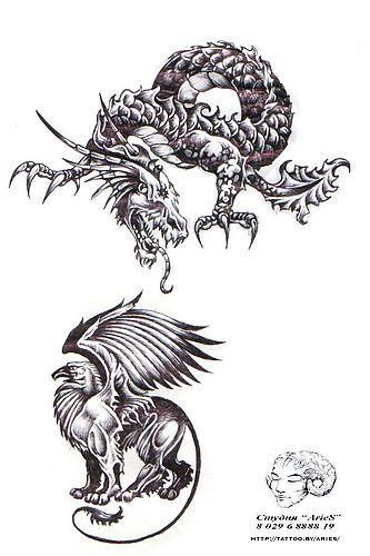 武汉老兵纹身店:老鹰龙纹身图案图片大全图片