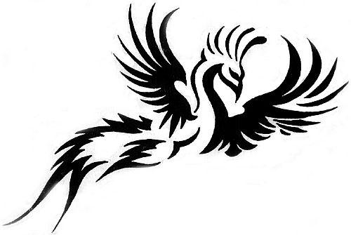 武汉纹身:图腾凤凰纹身图案图片大全图片